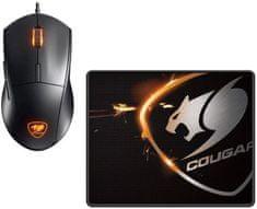 Cougar zestaw z podkładką i myszą Minos XC + Speed XC, czarny (3MMXCWOB.0001)