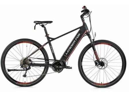 Leader Fox Exeter moško električno kolo, 22,5, mat črno/oranžno