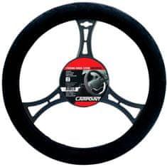 CarPoint Potah volantu Suede černé
