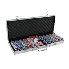 Master poker set 500 v kufříku Deluxe s označením hodnot