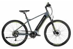 Leader Fox Exeter moško električno kolo, 22,5, mat sivo/zeleno
