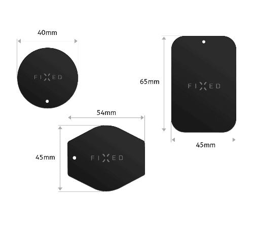 Fixed Sada magnetických plieškov ICON Plates, čierna (FIXIC-PL-BK) bezdrôtové nabíjanie