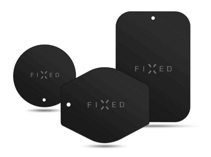 Fixed Sada magnetických plieškov ICON Plates, čierna (FIXIC-PL-BK) univerzálna kompatibilita pre všetky magnetické držiaky