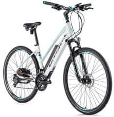 Leader Fox Venosa žensko električno kolo, 16,5, mat belo/svetlo zeleno