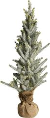 Lene Bjerre Vánoční stromeček ojíněný CHRISTMAS PINE, zelený s patinou