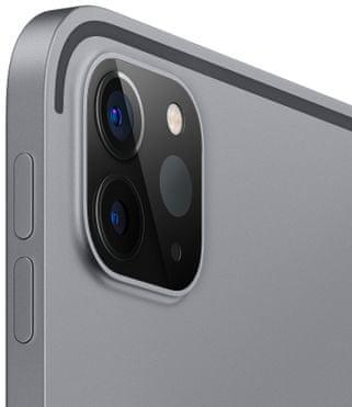 Apple iPad Pro 12,9 2020, Wi-Fi, duálny ultraširokouhlý fotoaparát, hĺbková predná kamera TrueDepth, čítačka tváre, Face ID, odomykanie tvárou, rozpoznanie tvárou, mikrofón, 4 reproduktory