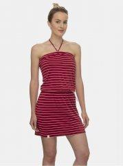 Ragwear červené pruhované šaty Chicka