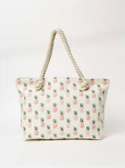 Haily´s krémová dámská vzorovaná plážová taška Samila