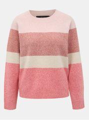 Vero Moda růžový pruhovaný svetr Doffy