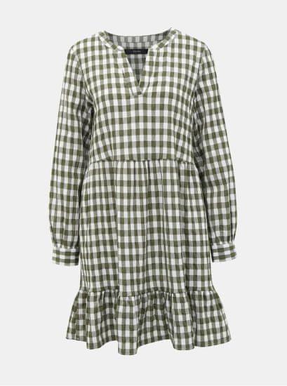 Vero Moda khaki kostkované šaty Kimi L