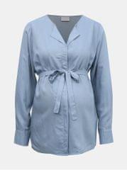 Mama.licious světle modrá těhotenská košile Veronika