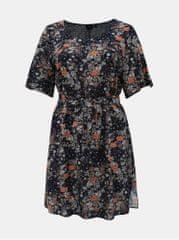 Zizzi tmavě modré květované šaty Viga