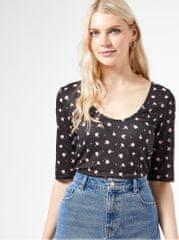 Dorothy Perkins černé květované tričko