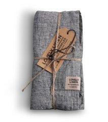 Lovely Linen stolní běžec Misty Chambray black 45x150