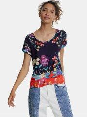 Desigual fialové vzorované tričko