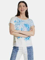 Desigual modro-bílé vzorované tričko