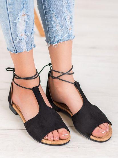 Vinceza Dámske sandále 63123 + Nadkolienky Sophia 2pack visone, čierne, 38