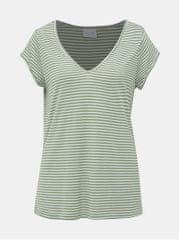 VILA zelené pruhované basic tričko Coop