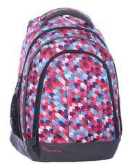 Bagmaster Dívčí studentský batoh LILY 0115 B PINK/VIOLET/BLUE/WHITE Bagmaster