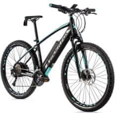 Leader Fox Swan MTB 27,5 električno kolo, 17,5, mat črno/svetlo zeleno