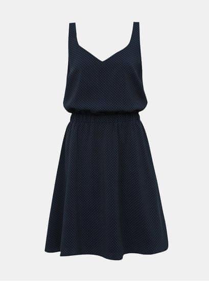 VILA tmavě modré vzorované šaty Laia L