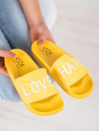 Női papucs 63132 + Nőin zokni Sophia 2pack visone, sárga és arany árnyalat, 37