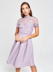 Little Mistress světle fialové šaty s krajkou