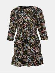 Miss Selfridge Petit černé květované šaty