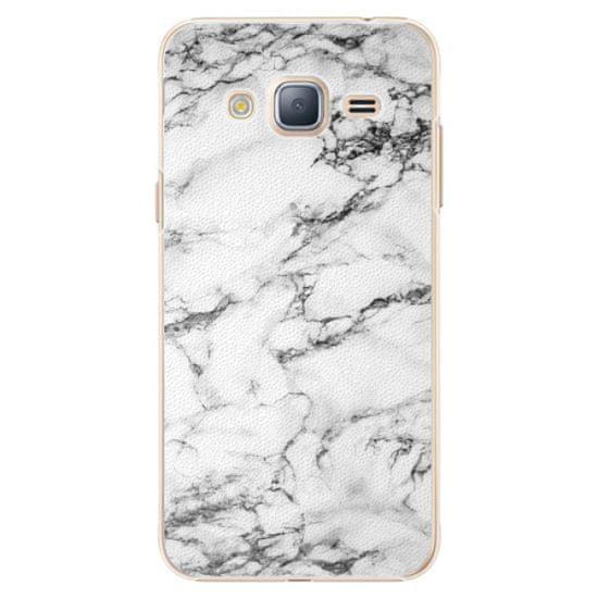 iSaprio Plastový kryt - White Marble 01 pro Samsung Galaxy J3 (2016)