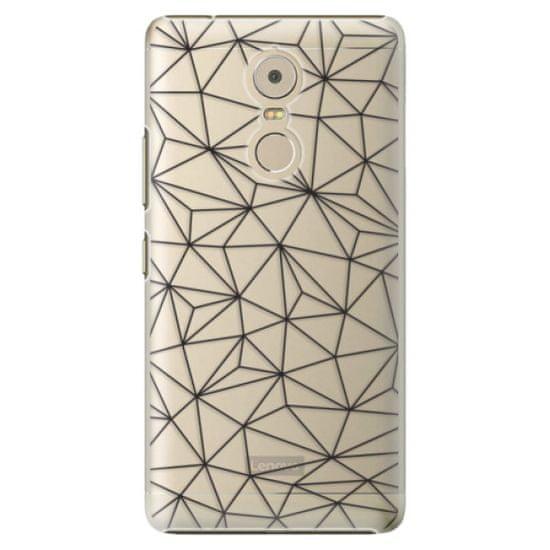 iSaprio Plastový kryt - Abstract Triangles 03 - black pro Lenovo Vibe K6 Note