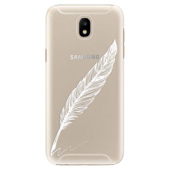 iSaprio Plastový kryt - Writing By Feather - white pre Samsung Galaxy J5 (2017)