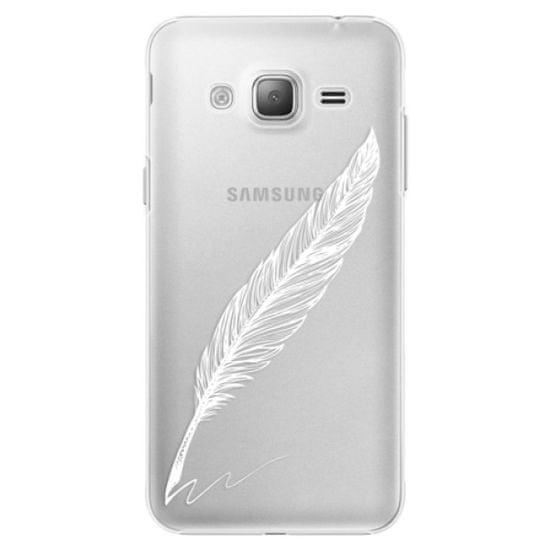 iSaprio Plastový kryt - Writing By Feather - white pre Samsung Galaxy J3