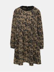 Noisy May světle hnědé vzorované šaty Lena