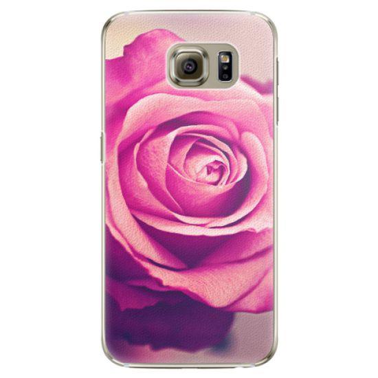 iSaprio Plastový kryt - Pink Rose pro Samsung Galaxy S6 Edge