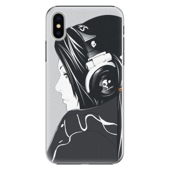 iSaprio Plastový kryt - Headphones pro Apple iPhone X