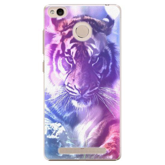 iSaprio Plastový kryt - Purple Tiger pro Xiaomi Redmi 3S
