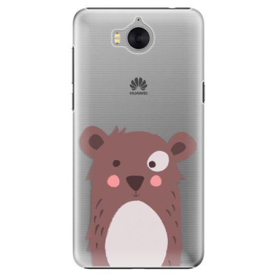 iSaprio Plastový kryt - Brown Bear pre Huawei Y5 2017/Huawei Y6 2017
