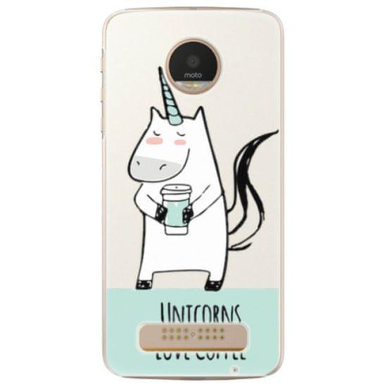 iSaprio Plastový kryt - Unicorns Love Coffee pre Lenovo Moto Z Play