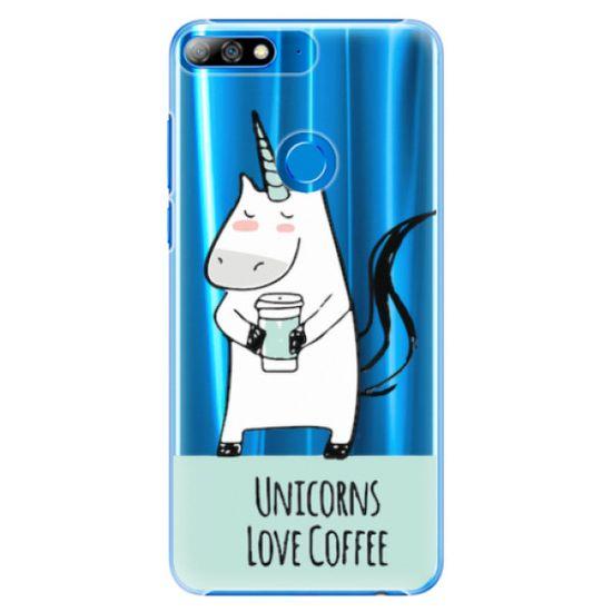iSaprio Plastový kryt - Unicorns Love Coffee pre Huawei Y7 Prime 2018