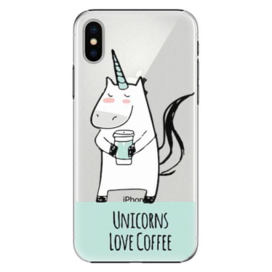 iSaprio Plastový kryt - Unicorns Love Coffee pre Apple iPhone X