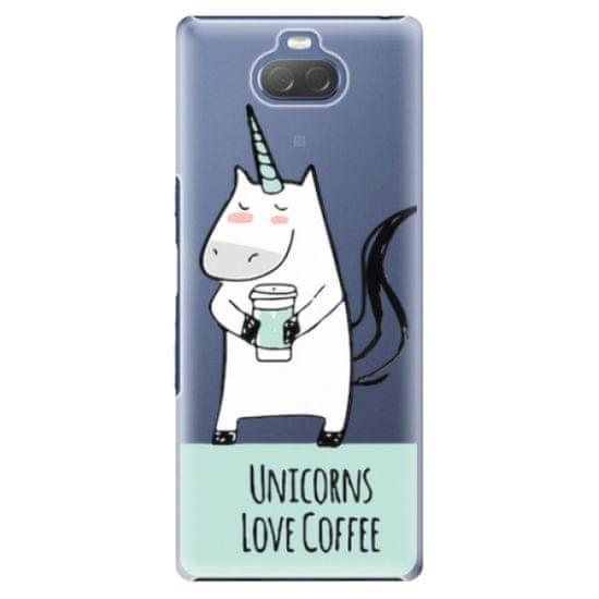 iSaprio Plastový kryt - Unicorns Love Coffee pre Sony Xperia 10
