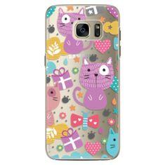 iSaprio Plastový kryt - Cat pattern 01 pro Samsung Galaxy S7 Edge