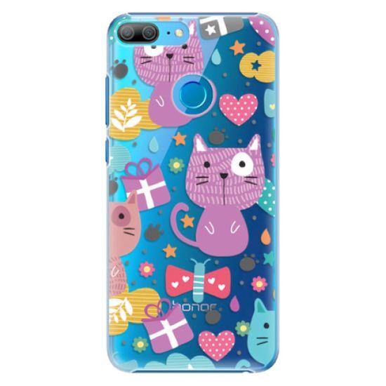 iSaprio Plastový kryt - Cat pattern 01 pre Honor 9 lite