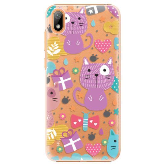 iSaprio Plastový kryt - Cat pattern 01 pro Huawei Y5 2019