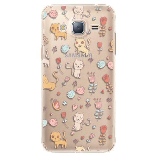 iSaprio Plastový kryt - Cat pattern 02 pre Samsung Galaxy J3 (2016)