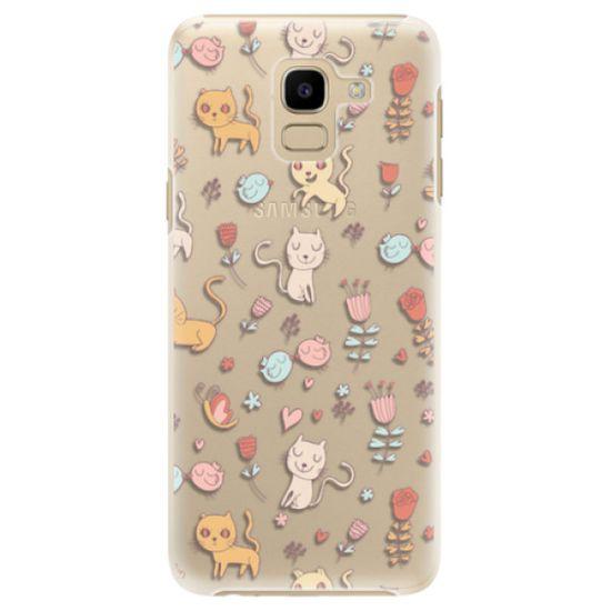 iSaprio Plastový kryt - Cat pattern 02 pro Samsung Galaxy J6