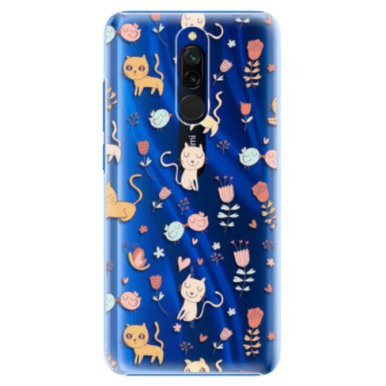 iSaprio Plastový kryt - Cat pattern 02 pre Xiaomi Redmi 8