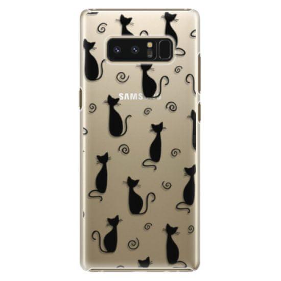 iSaprio Plastový kryt - Cat pattern 05 - black pro Samsung Galaxy Note8