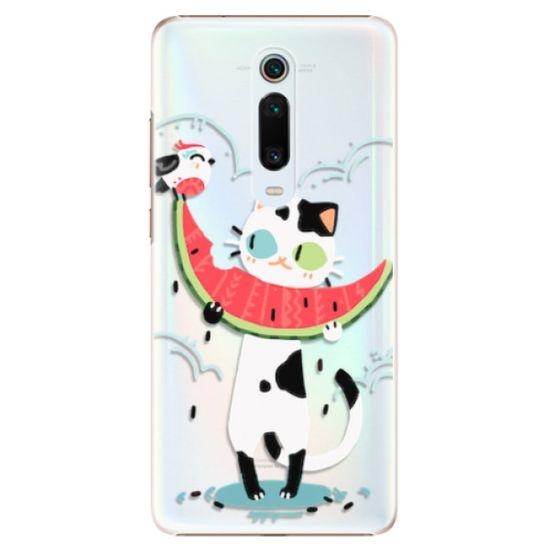 iSaprio Plastový kryt - Cat with melon pre Xiaomi Mi 9T Pro