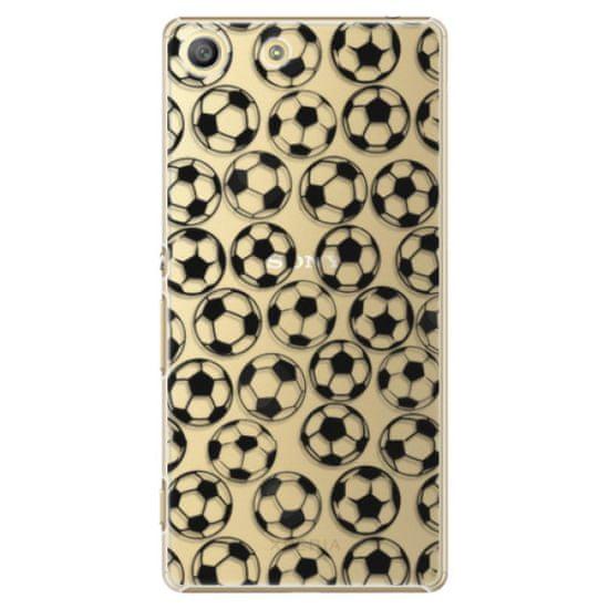 iSaprio Plastový kryt - Football pattern - black pre Sony Xperia M5